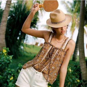 NWT ANTHRO Bardot blouse